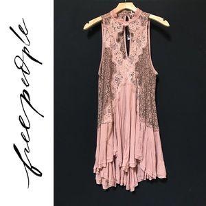 Free People Tell Tale Heart Lace Swing Dress